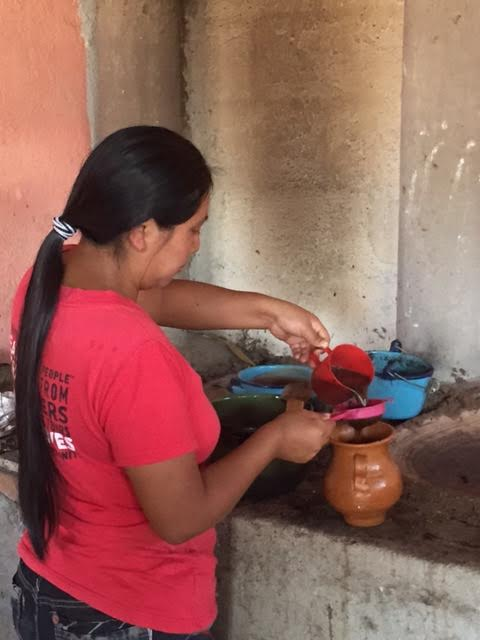Marta making our coffee from her family's land