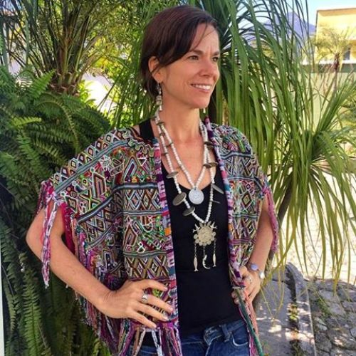 Vintage Maya Textile Fringed Cape with Ama de Leche Trade Beads & Spanish Colonial Coins Chachal