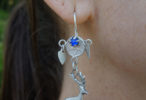Antique Mayan Guatemalan Silver Coin and Milagro Earrings ca 1940s
