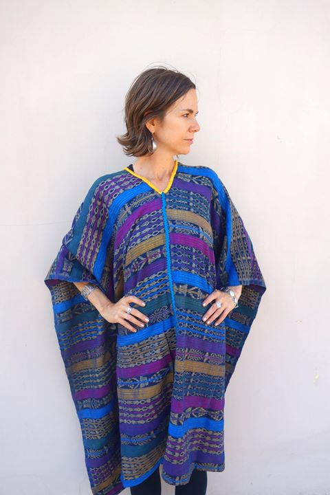This stunning Vintage Maya Textile Caftan can easily go from the beach to a black tie event!