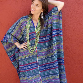 Caftan from Vintage Maya Skirt Textile 007 – SOLD