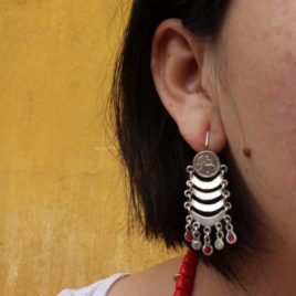 Antique Coin Chandelier Earrings from Guatemala- SOLD