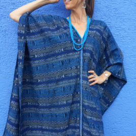Caftan from Vintage Maya Skirt Textile 010 – SOLD