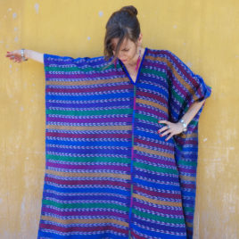 Caftan from Vintage Maya Skirt Textile 008 – SOLD
