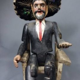Vintage Handcarved San Simon/Maximon Altar Piece from Solola, Guatemala -SOLD
